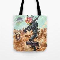 prometheus Tote Bags featuring Prometheus by Logan  Faerber
