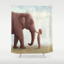 One Amazing Elephant Shower Curtain