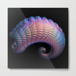 3D Fractal Curl Metal Print