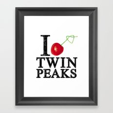 I Love Twin Peaks (Cherry Stem) Framed Art Print