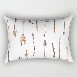 Boho Arrows with Feathers Rectangular Pillow