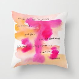 4    | Gentle Reminder Words |190826 | Throw Pillow