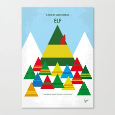 No699 My ELF minimal movie poster Canvas Print