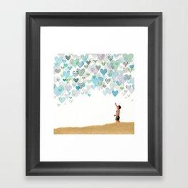 Look, The Sky Is Full of Love Framed Art Print