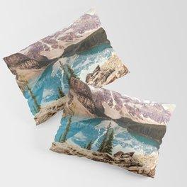 Moraine Lake III Banff Summer Mountain Reflection Pillow Sham