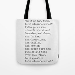 Emerson quote 9 Tote Bag