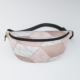 Dazzling marble geo - rose gold Fanny Pack