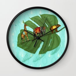 Vintage Sympathetic collection: Leaf and Circus Animals Wall Clock