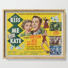 Classic Movie Poster - Kiss Me Kate Serving Tray