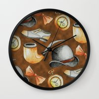 gentleman Wall Clocks featuring Gentleman by M. Noelle Studios