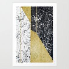 marble hOurglass Art Print