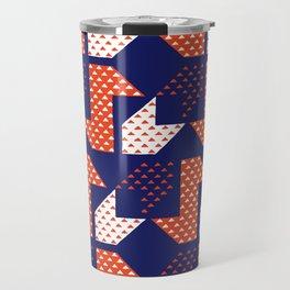 Clover&Nessie Denim/Apple Travel Mug
