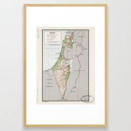 Map of Israel (1967) Framed Art Print