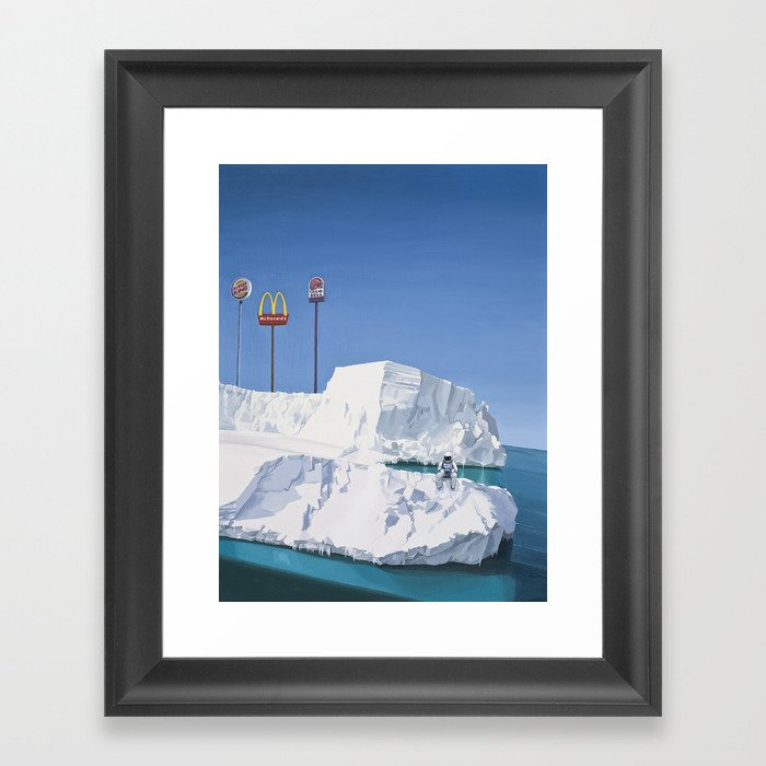 The Iceberg Framed Art Print