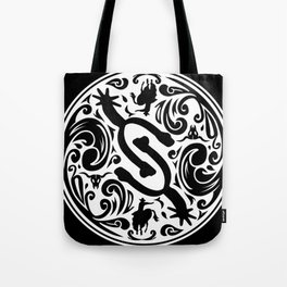 Spur Buckle (white) Tote Bag
