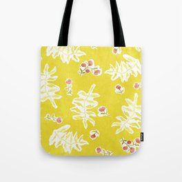 Daisy with Yellowed Green Tote Bag