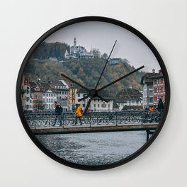 quiet moments in lucerne Wall Clock