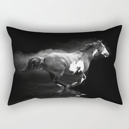 Galloping Pinto Horse Rectangular Pillow