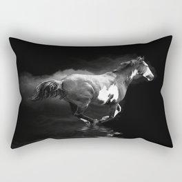 Galloping Pinto Horse Rectangular Pillow