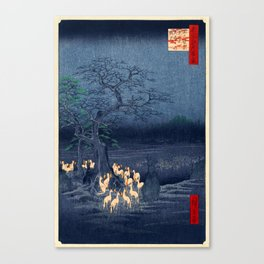 Foxfires at the Changing Tree Canvas Print