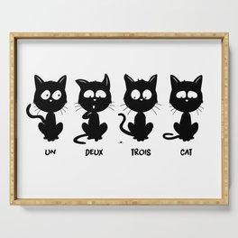Un, deux, trois, cat Serving Tray