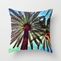 oasis Throw Pillows featuring Oasis by efbii
