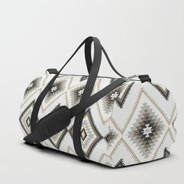 Beige Aztec Duffle Bag