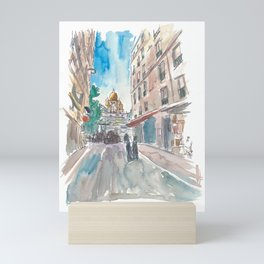 Paris France Montmartre Sacre Coeur Street Scene Mini Art Print