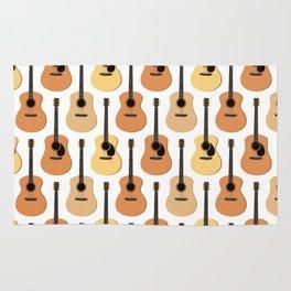 Acoustic Guitars Pattern Rug