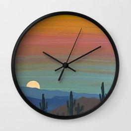 Arizona Moonrise Wall Clock