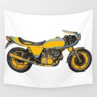 motorcycle Wall Tapestries featuring Motorcycle 10HP  by Rocco You