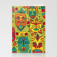 tiki Stationery Cards featuring Tiki tiki by Binnyboo