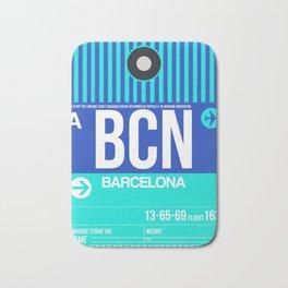 BCN Barcelona Luggage Tag 2 Bath Mat