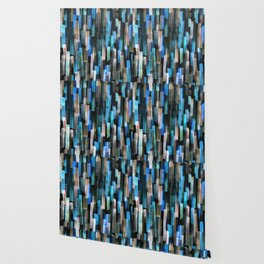 Cool Colored Dashes - Blue, Teal, Navy Blue Wallpaper