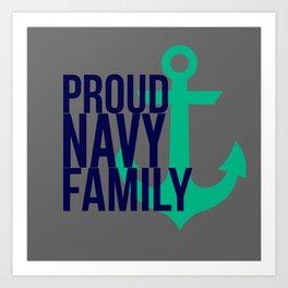 Proud Navy Family Art Print