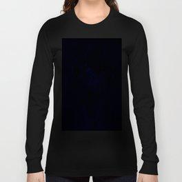 Royal Blue Fractal dahlia Long Sleeve T-shirt