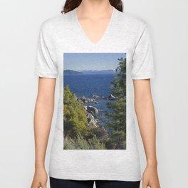 Trees + Tahoe Unisex V-Neck