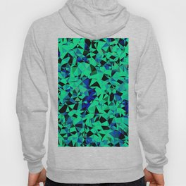 geometric triangle pattern abstract in green blue black Hoody