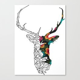 STAG FLORAL Canvas Print