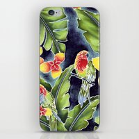 kindle iPhone & iPod Skins featuring Tiki Talk by Vikki Salmela