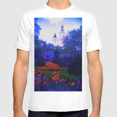 Path of Petals MEDIUM Mens Fitted Tee White