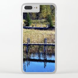 Impressionistic docks Clear iPhone Case