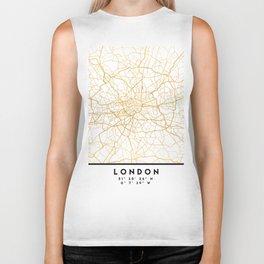 LONDON ENGLAND CITY STREET MAP ART Biker Tank