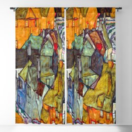 Egon Schiele Crescent of Houses II Blackout Curtain