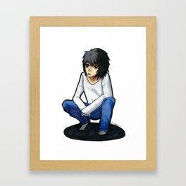 """""""L"""" Framed Art Print"""