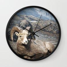 Tom Feiler Sitting Ram Wall Clock