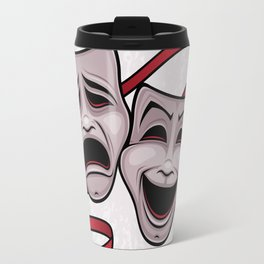 Comedy And Tragedy Theater Masks Travel Mug