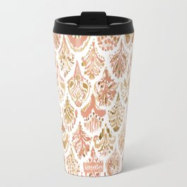 PAISLEY MERMAID Rose Gold Fish Scales Travel Mug