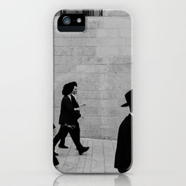 Men walking to The Western Wall in the Old City, Jerusalem, Israel | Holy-place, religious jewish men talking | Travel photography  iPhone Case