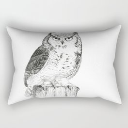 My great horned owl: Nuit Rectangular Pillow